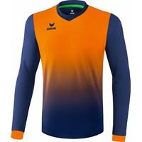 Erima Leeds Voetbalshirt Lange Mouw - New Navy / Neon Oranje