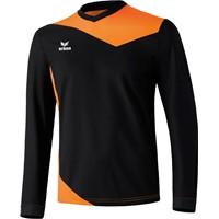 Erima Glasgow Voetbalshirt Lange Mouw - Zwart / Neon Oranje