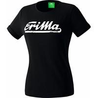 Erima Retro T-Shirt Dames - Zwart / Wit