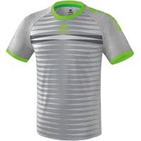 Erima Ferrara 2.0 Shirt Korte Mouw - Grijs Melange / Green Gecco