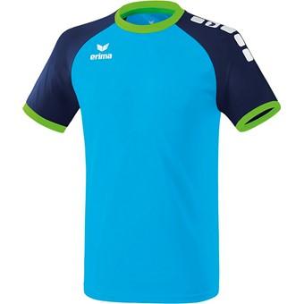 Picture of Erima Zenari 3.0 Shirt Korte Mouw Kinderen - Curacao / New Navy / Green Gecco