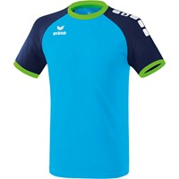 Erima Zenari 3.0 Shirt Korte Mouw - Curacao / New Navy / Green Gecco