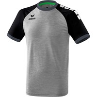 Erima Zenari 3.0 Shirt Korte Mouw - Grey Melange / Zwart / Donkergrijs