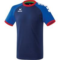 Erima Zenari 3.0 Shirt Korte Mouw - New Navy / New Royal / Rood