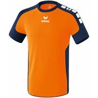 Erima Valencia Shirt Korte Mouw - Neon Oranje / New Navy