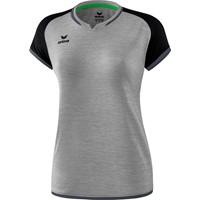 Erima Zenari 3.0 Volleybalshirt Dames - Grey Melange / Zwart / Donkergrijs