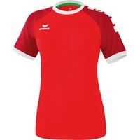 Erima Zenari 3.0 Shirt Korte Mouw Dames - Rood / Robijnrood / Wit
