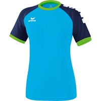 Erima Zenari 3.0 Shirt Korte Mouw Dames - Curacao / New Navy / Green Gecco