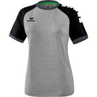 Erima Zenari 3.0 Shirt Korte Mouw Dames - Grey Melange / Zwart / Donkergrijs