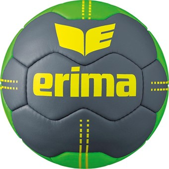 Picture of Erima Pure Grip No. 2 Handbal - Cool Grey / Green / Geel