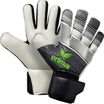 Picture of Erima Skinator Hybrid Match Keepershandschoenen - Zwart / Wit / Green Gecco