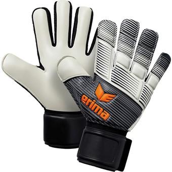 Picture of Erima Skinator Hybrid Training Keepershandschoenen - Zwart / Wit / Neon Oranje