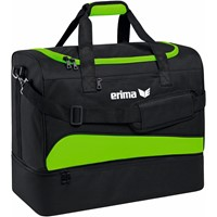 Erima (s) Club 1900 2.0 Sporttas Met Bodemvak - Green Gecco / Zwart