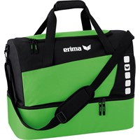 Erima Club 5 (medium) Sporttas Met Bodemvak - Zwart / Green