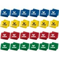 Erima 24 Paar Scheenbeschermer Ophouder - Royal / Geel / Rood / Groen