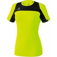 Erima Race Line Running T-shirt Dames - Neongeel / Zwart