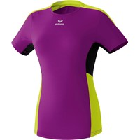 Erima Premium One Premium One Running T-shirt Dames - Purple / Lime / Zwart