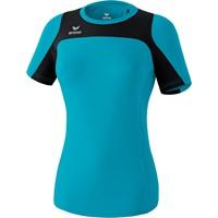 Erima Race Line Running T-shirt Dames - Petrol / Zwart