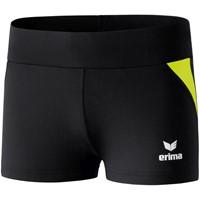 Erima Hotpants Dames - Zwart / Fluogeel