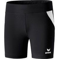 Erima Atletiek Short Tight Dames - Zwart / Wit