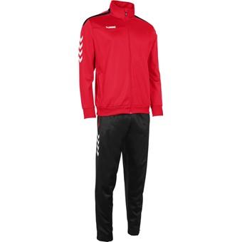 Picture of Hummel Valencia Trainingspak Polyester Kinderen - Rood / Zwart