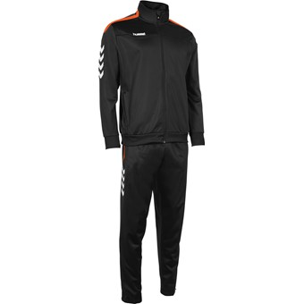Picture of Hummel Valencia Trainingspak Polyester Kinderen - Zwart / Oranje