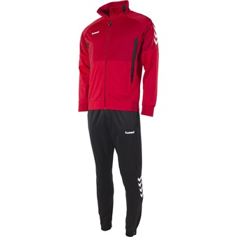 Picture of Hummel Authentic Trainingspak Polyester - Rood / Zwart