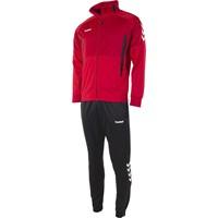 Hummel Authentic Trainingspak Polyester - Rood / Zwart