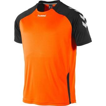Picture of Hummel Aarhus Shirt Korte Mouw Kinderen - Fluo Oranje / Zwart