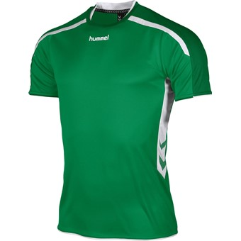 Picture of Hummel Preston Shirt Korte Mouw Kinderen - Groen / Wit