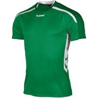 Hummel Preston Shirt Korte Mouw - Groen / Wit