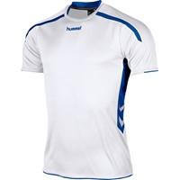 Hummel Preston Shirt Korte Mouw - Wit / Royal