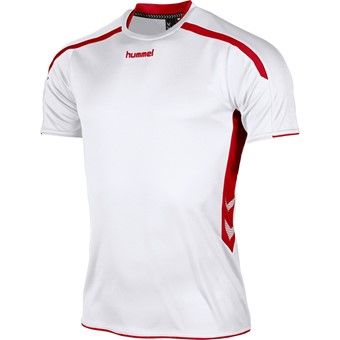 Picture of Hummel Preston Shirt Korte Mouw - Wit / Rood