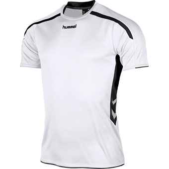 Picture of Hummel Preston Shirt Korte Mouw Kinderen - Wit / Zwart