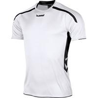 Hummel Preston Shirt Korte Mouw - Wit / Zwart