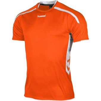 Picture of Hummel Preston Shirt Korte Mouw Kinderen - Oranje / Wit