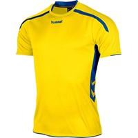 Hummel Preston Shirt Korte Mouw - Geel / Royal