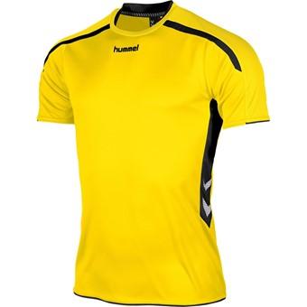 Picture of Hummel Preston Shirt Korte Mouw Kinderen - Geel / Zwart