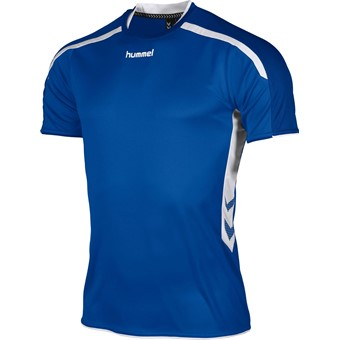 Picture of Hummel Preston Shirt Korte Mouw - Royal / Wit