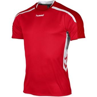 Picture of Hummel Preston Shirt Korte Mouw Kinderen - Rood / Wit