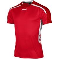 Hummel Preston Shirt Korte Mouw - Rood / Wit