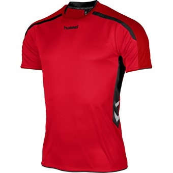 Picture of Hummel Preston Shirt Korte Mouw - Rood / Zwart