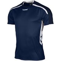 Hummel Preston Shirt Korte Mouw - Marine / Wit