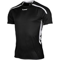 Hummel Preston Shirt Korte Mouw - Zwart / Wit
