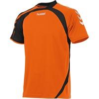 Hummel Odense Shirt Korte Mouw Kinderen - Shocking Orange / Zwart