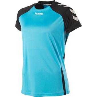 Picture of Hummel Aarhus Shirt Korte Mouw Dames - Aqua Blue / Zwart