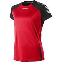 Hummel Aarhus Shirt Korte Mouw Dames - Rood / Zwart