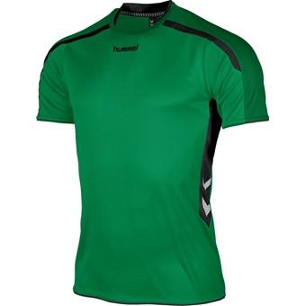 Picture of Hummel Preston Shirt Korte Mouw Kinderen - Groen / Zwart