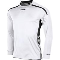 Hummel Preston Voetbalshirt Lange Mouw - Wit / Zwart