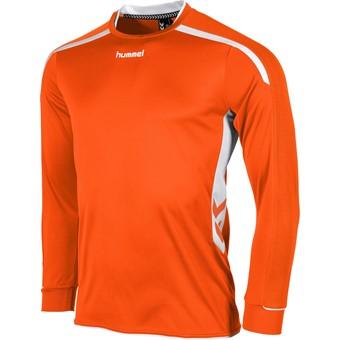 Picture of Hummel Preston Voetbalshirt Lange Mouw - Oranje / Wit